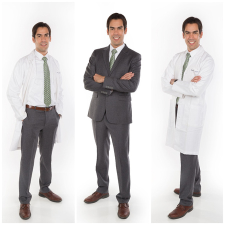 Stanford Doctor Portrait Studio with White Background by TerrificShot Photograpy