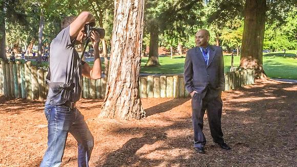behind scene corporate business head shot
