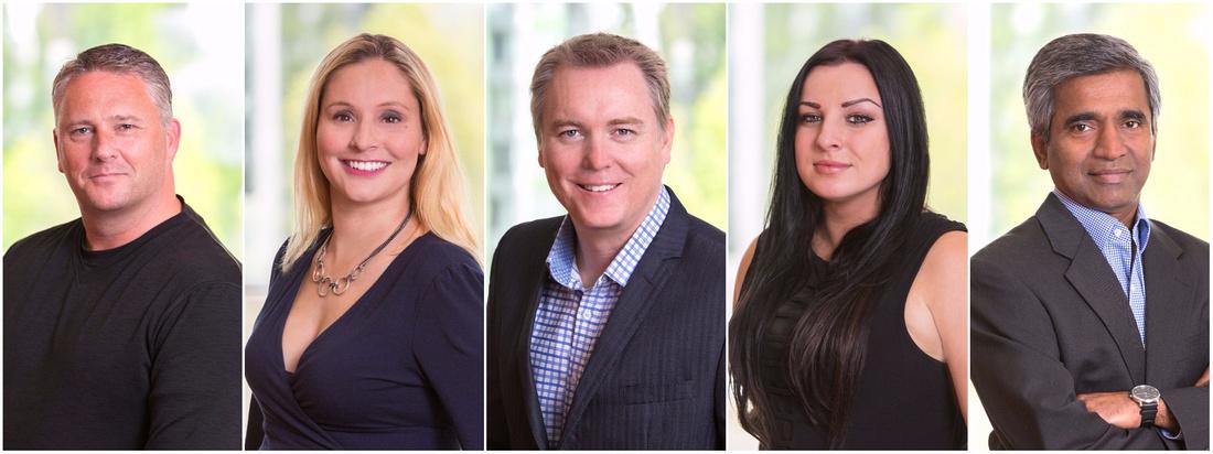 corporate business headshot big team