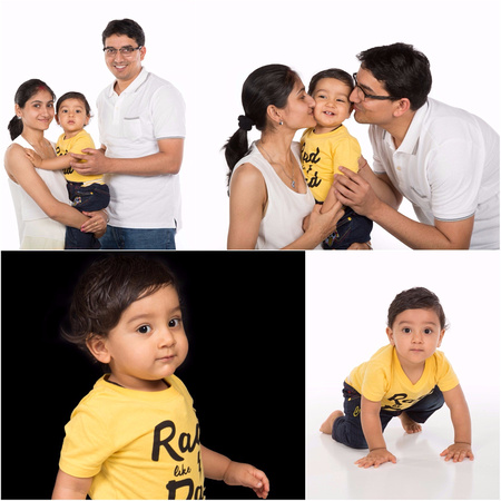 Family of three Studio portrait Photography