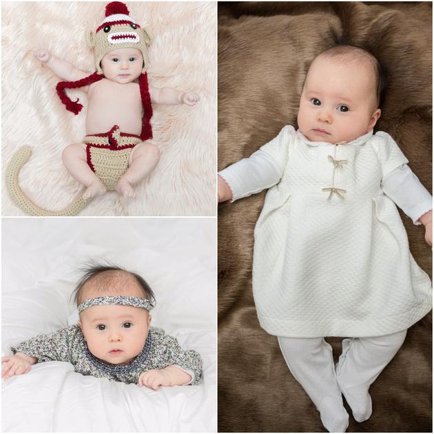 newborn baby girl portrait session