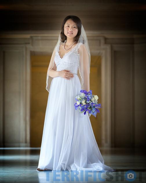 wedding_bride_pose_san_francisco_city_hall