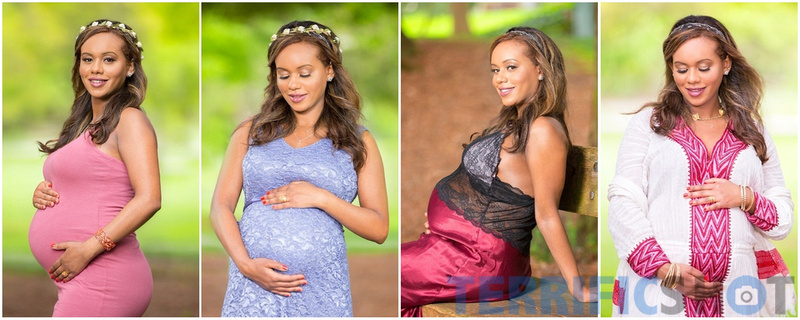 collage_pregnant_woman_outdoor_portrait
