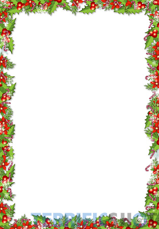 Christmas_PNG_Frame_with_Mistletoes